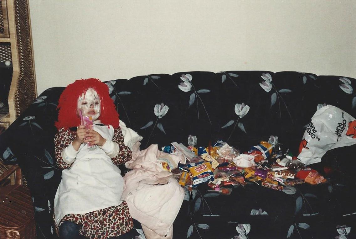 Remember how I said I loved Halloween...yep. Point proven. A pillow case full of candy and treats ready for devouring.