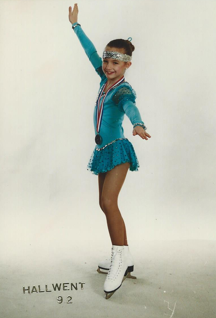 I used to figure skate competitively. My mum painstakingly made all my costumes. Sewing each and every one of those sequences on.