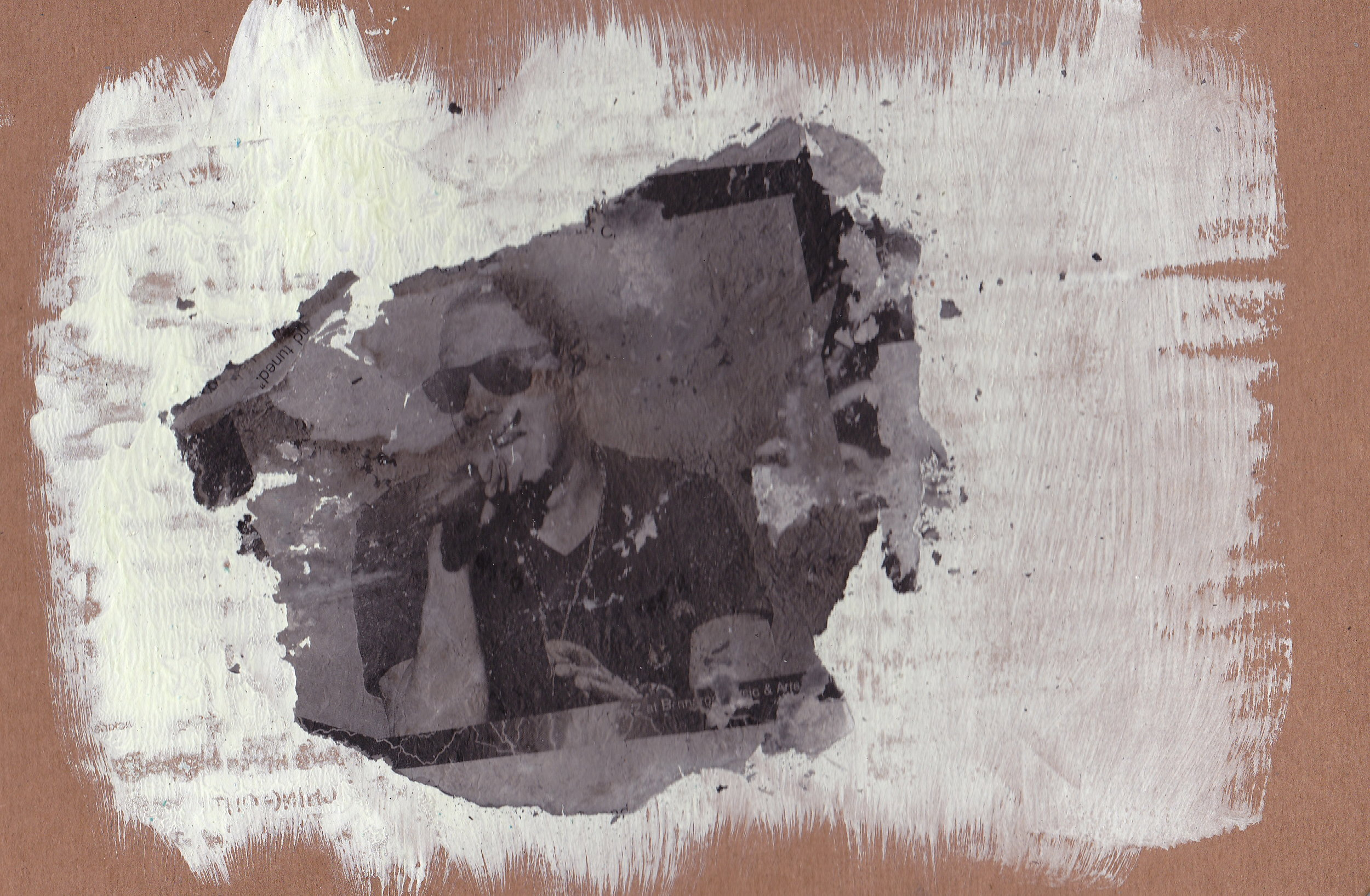 Jay-Z, 2012 ash and gesso on cardboard