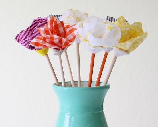 no sew fabric flower bouquet