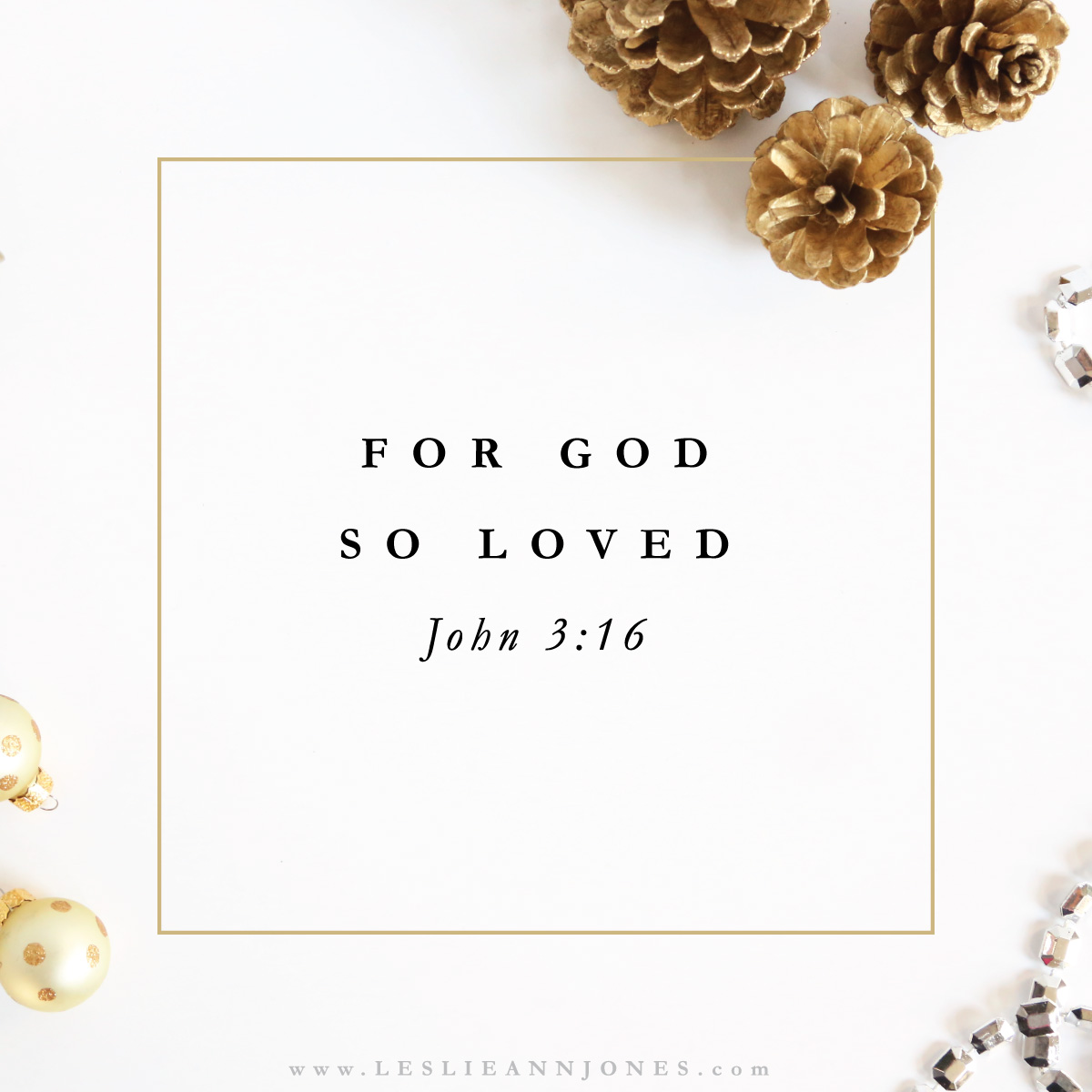 Love Came Down. An Advent devotion from Leslie Ann Jones.