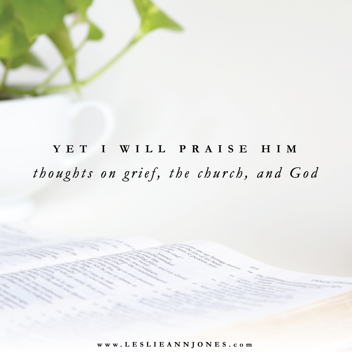 Yet I Will Praise Him. Thoughts on grief, the church, and God. via leslieannjones.com