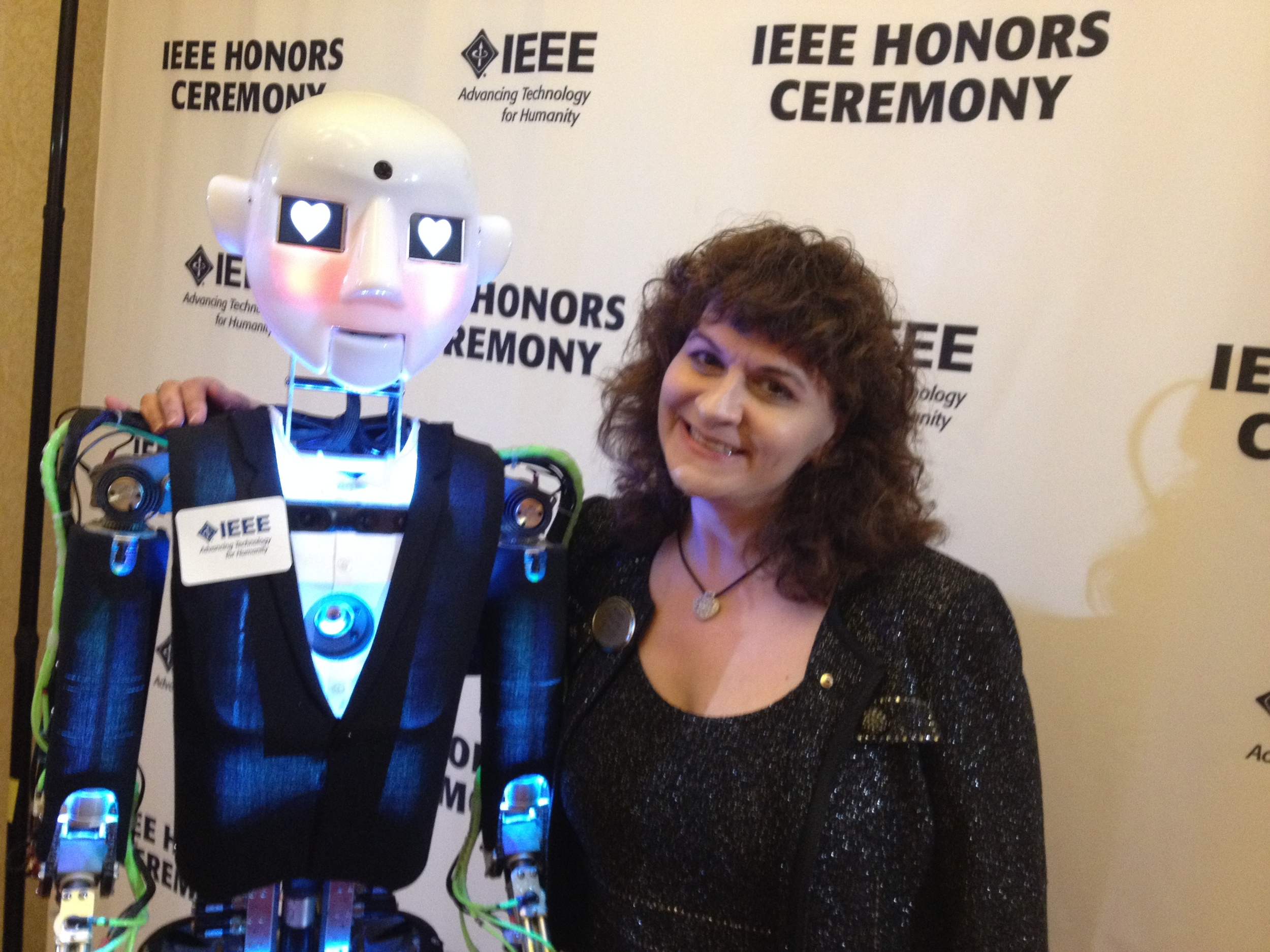 Karen with Robothespian