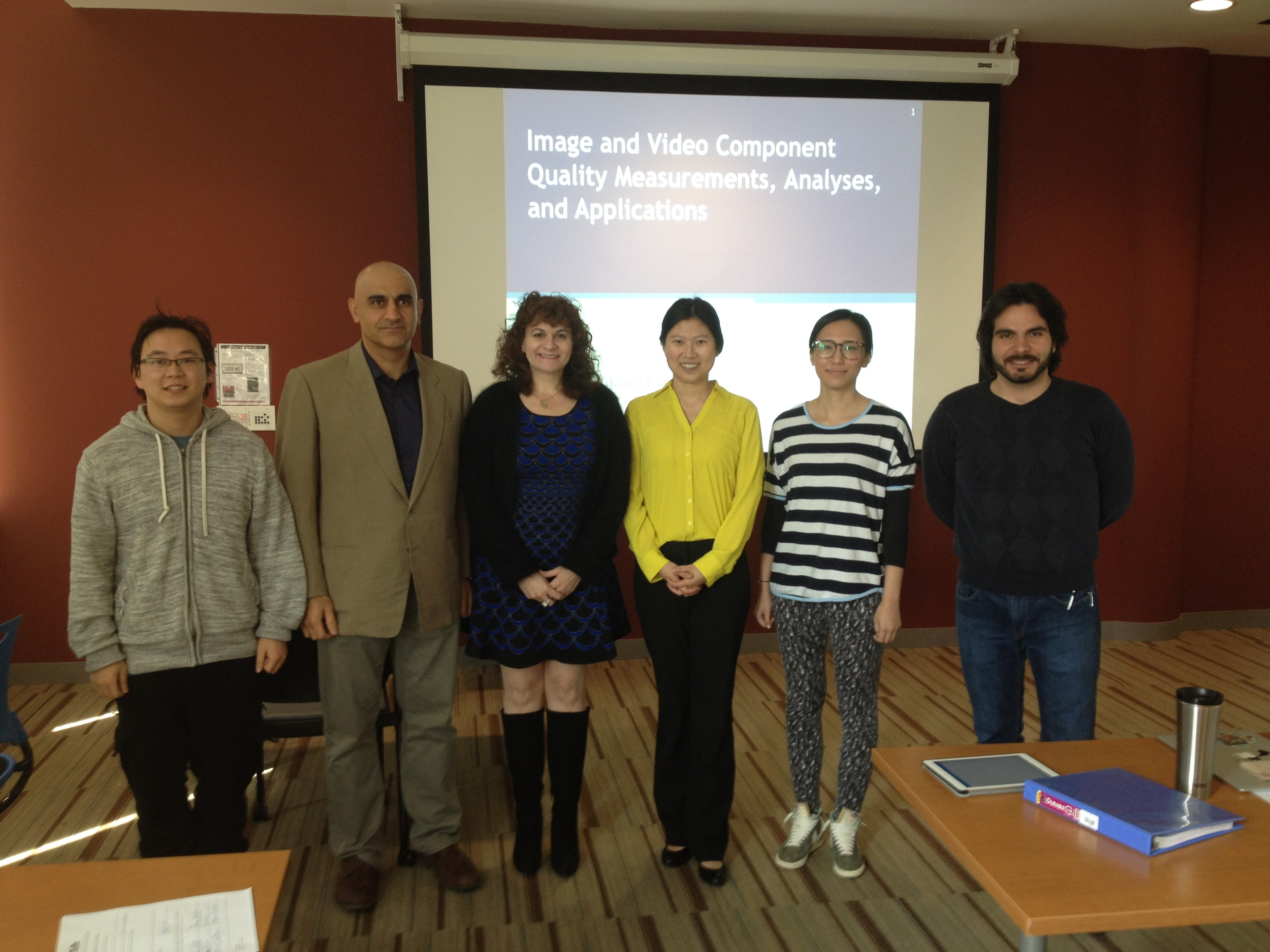 Karen and her lab members at Chen Gao's thesis defense