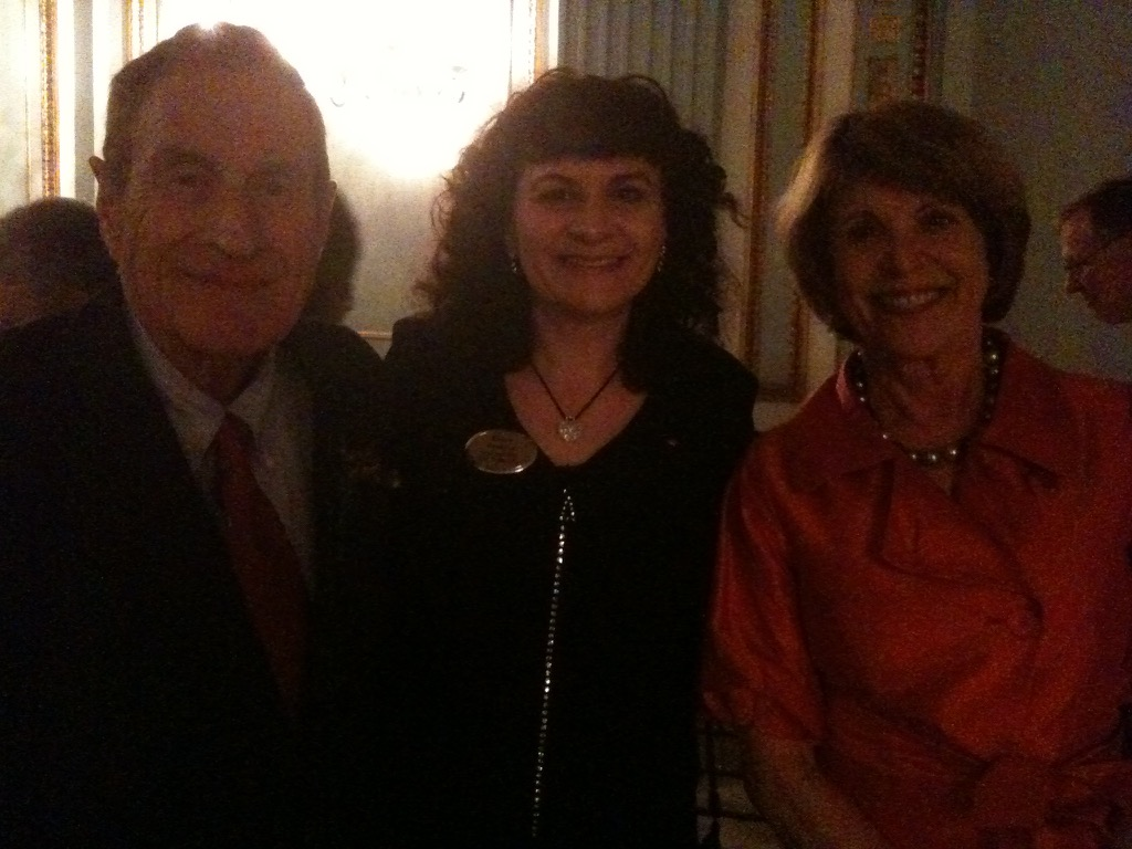 Karen with engineer Ray Dolby and his wife Dagmar