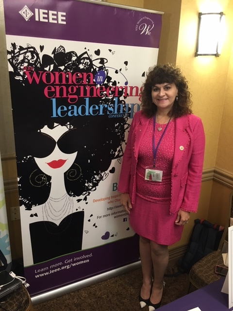 Dr. Karen Panetta (WIE Editor-in-Chief) with the WIE Magazine's leadership issue