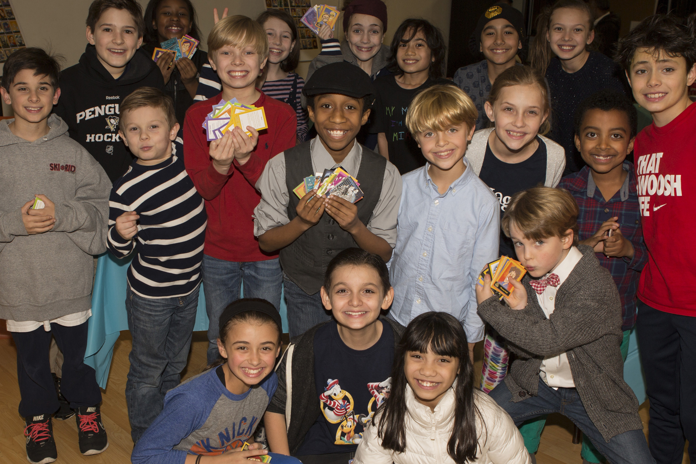 Broadway kids and The Lights of Broadway Show Cards™. Photo credit: Jeremy Daniel.