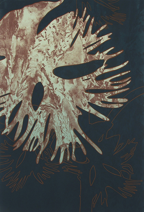 April Flanders  Western Prairie Fringed Orchid , 2014 lithograph and serigraph 22 x 15 inches