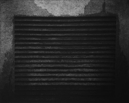 Jim Butch  Breathe , 2013 aquatint etching 8 x 10 inches