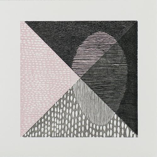 Luca Cruzat  A Travers (Through) , 2013 woodcut 11 x 11 inches