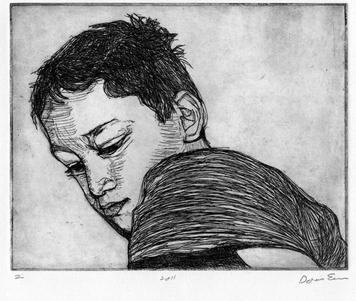 Doris Eisen  Z , 2011 hard ground etching 8 x 9.75 inches