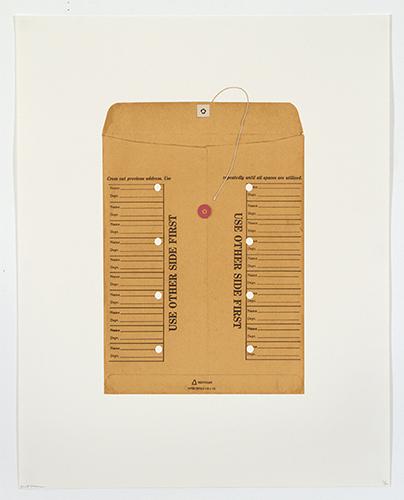 Brett Groves  Interoffice , 2012 9 color screenprint 23.5 x 18.5 inches