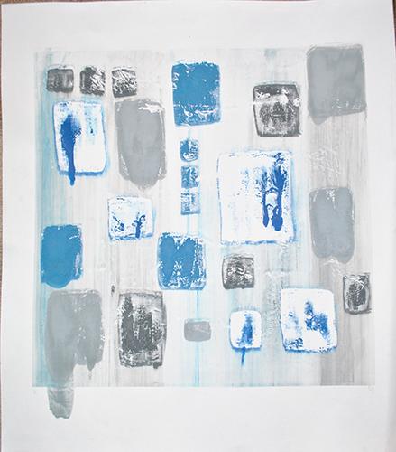 Danielle Gurgiolo  The Blue Ones,  2013 screenprint 25.75 x 22.75 inches