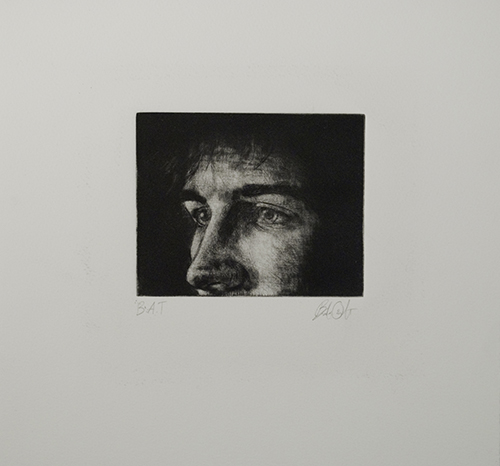 Brandon Oswalt  Self-Titled , 2012 intaglio 11 x 11 inches