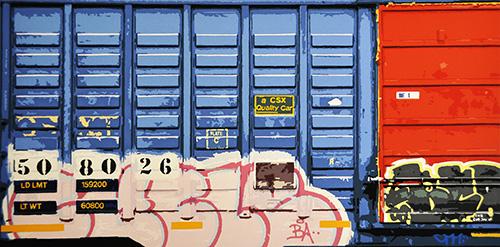 David Thompson  CSX , 2012 screenprint 7.75 x 15.5 inches