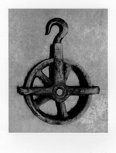 James Hunter  Pulley #1 , 2011 photo etching 9 x 7 inches