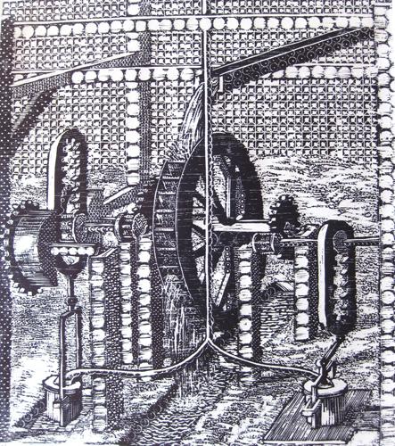 Gary Comoglio  Diversion , 2011 woodcut 18 x 15 inches