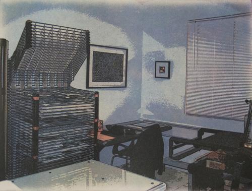 Chris Warot  Atomic Malt Shop I , 2010 4 color process solarplate intaglio 8 x 11 inches
