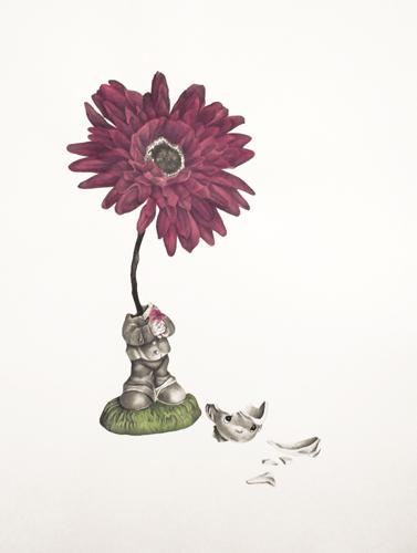 Ella Weber  My Precious Moment , 2012 hand colored lithograph 24 x 18 inches