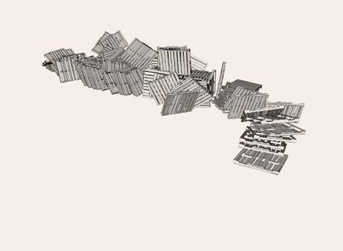 Mike McMann  Highland Ridge (2) , 2011 Digital inkjet 11 x 15 inches
