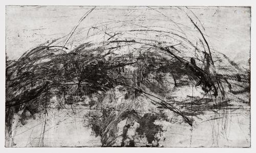 Erin Wiersma  3.12.11 - , 2011 Steel etching 9 x 16 inches