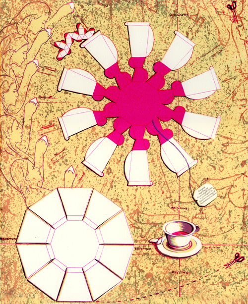 Andrew DeCaen  Red Zinger , 2010 Screen print 11 x 14 inches