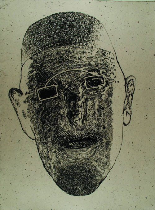 Dennis Olsen  Samplings: Naueer , 2010 Intaglio, type and chine collé 24 x 18 inches