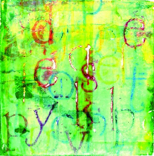 Debra L. Arter  Empty Conversation , 2009 Serigraphic monotype 4.375 x 4.375 inches