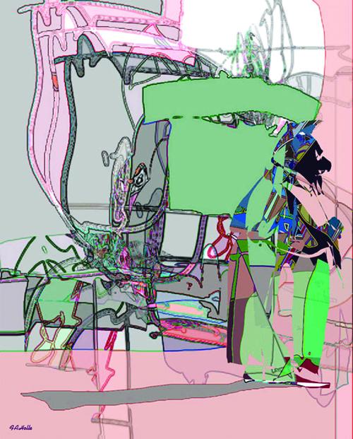 Fred Holle  Deus Ex Machina , 2008 Freehand digital print 15 x 12 inches