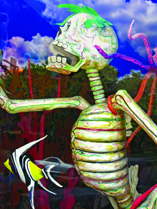 Babette Mayor  On the Run (Window Series) , 2009 Digital inkjet print 12 x 18 inches