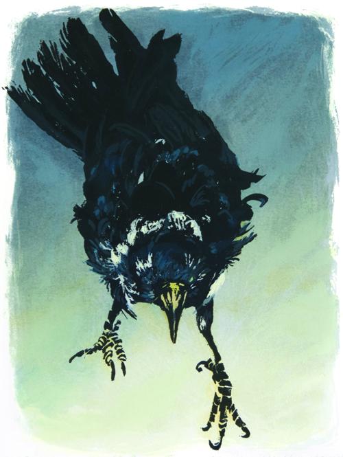 Nancy McIntyre  Old Crow I , 2008 Silkscreen 9.25 x 6.75 inches