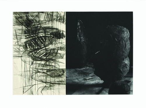 Brad Widness  Between States , 2008 Drypoint, solar plate and engraving 9 x 15 inches