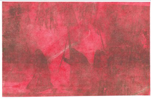 R. S. Stone  Dantesque , 2007 plate lithography  7 ½ x 6 ¾ inches