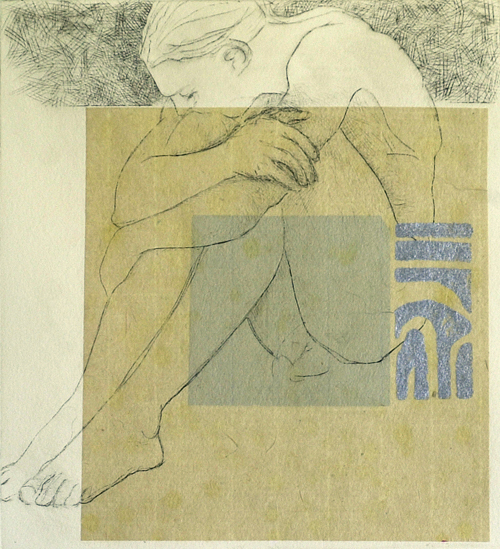 Joan C. Thompson  Promise Keeper , 2006 drypoint 6 ¼ x 5 ½ inches