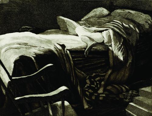 Margaret Bussey  Intertwine: Burrowing , 2004 Intaglio