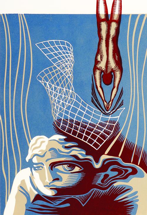 Natalia Moroz  Distortion of Personality , 2005 Linocut