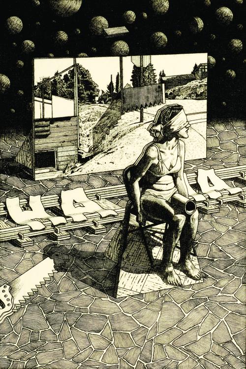 Brian Paulsen  Mementoes , 2005 Drypoint engraving