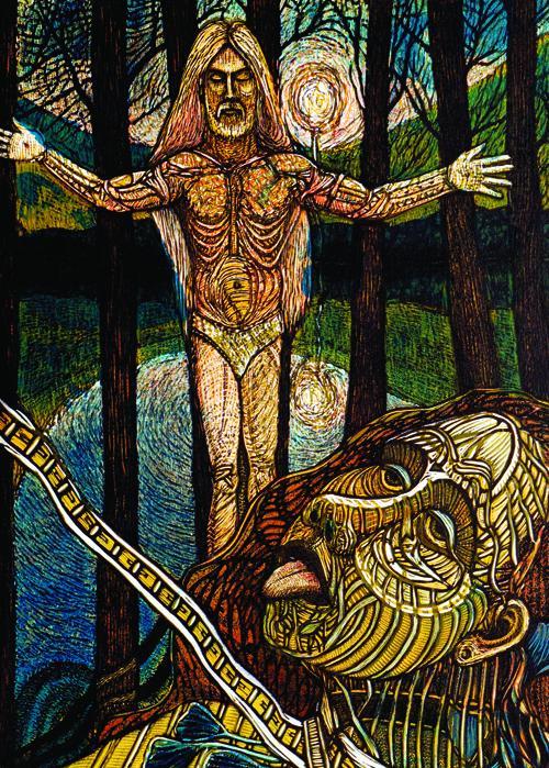 Ross Zirkle  Pagan's Revolt , 2005 Waterless lithograph and woodcut