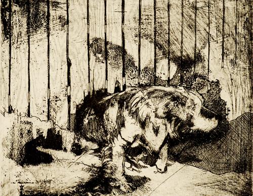 Matthew Baranauska  Dog #2  Intaglio