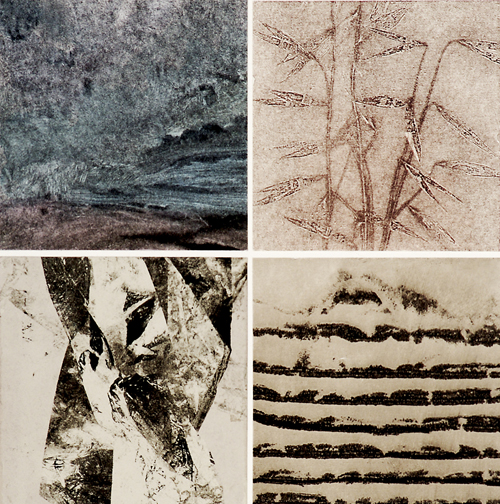 Ann Lindbeck  March  Monotype and collage