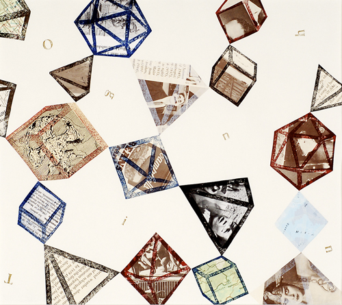 Anna Tsantir  Patapolyhedra I  Relief and collage