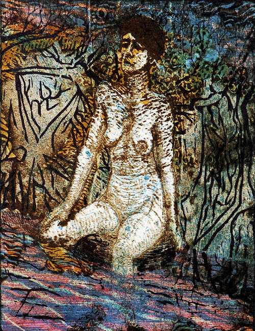 Ross Zirkle  Mood Swing  Waterless lithograph