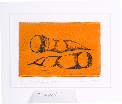 Thierry Rosset  Scalaire #12  Etching, color relief