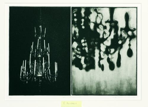 Edward Bernstein  Memoria III  Photogravure, etching