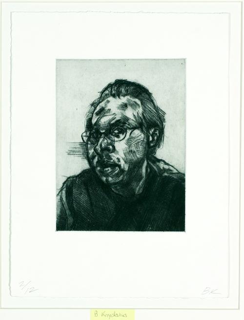 Brian Kreydatus  Untitled (Self Portarait)  Drypoint