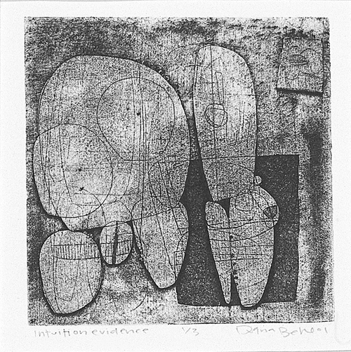 Diana Behl  Intuition Evidence  Intaglio