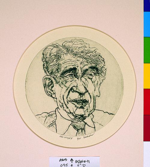Harvey Breverman  ElWiesel II  Engraving