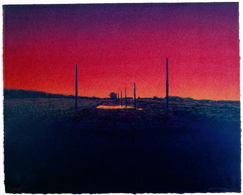 Michael G. Crouse  Vanishing Landscape V  Lithograph
