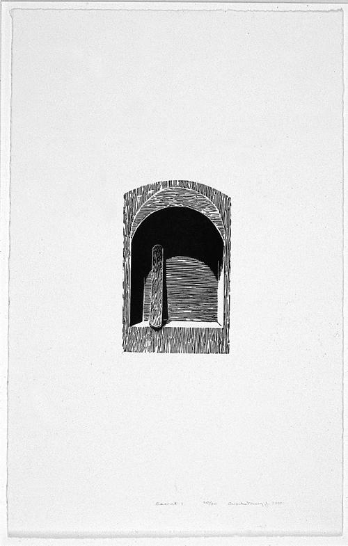 Charles Massey Jr.  Secret 1  Linoleum cut