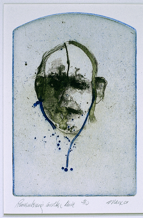 Robert E. Marx  Remembering Another Time  2 color intaglio